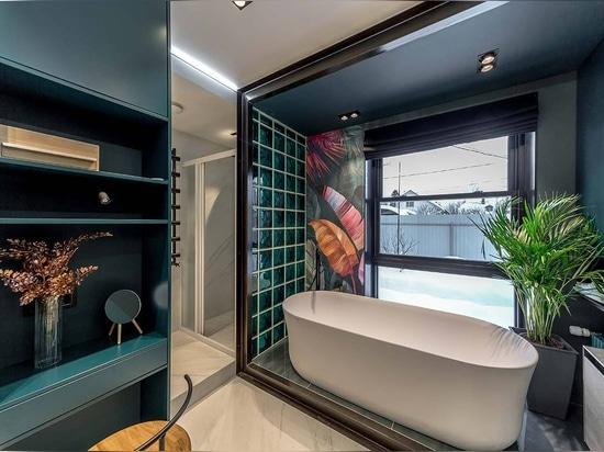 KRION Bath in bathrooms designed by Alexey Aladashvili in Rostov (Russia)