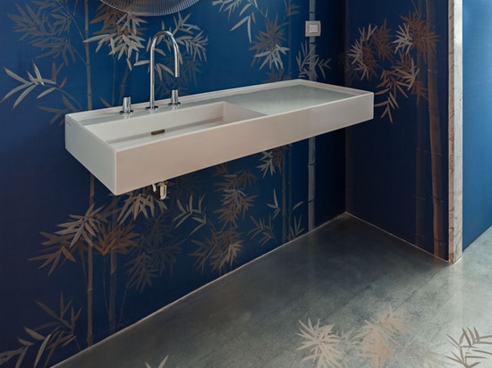 Bamboo Forest on silk and Metallic Wallpaper