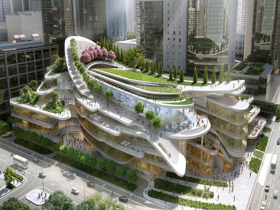 Beijing shopping center designed by Andrew Bromberg. Courtesy of Andrew Bromberg at Aedas