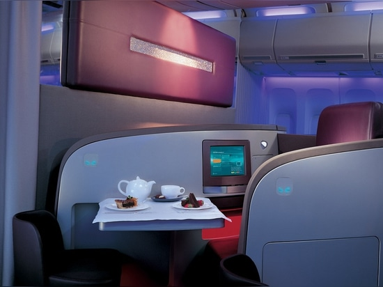 Virgin Atlantic Upper Class seating by PearsonLloyd