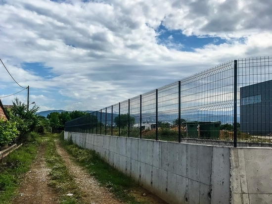 Wire fence in Agrinio.