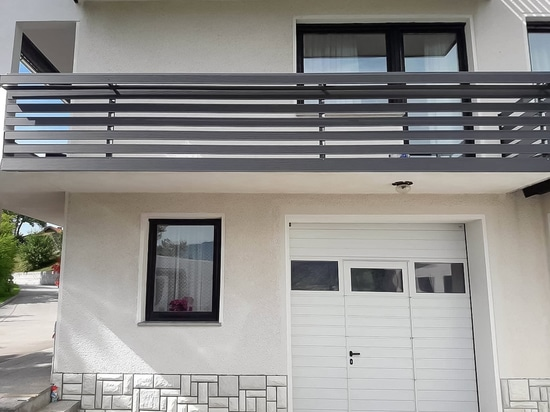 Railing in a two-storey building in Slovenia.
