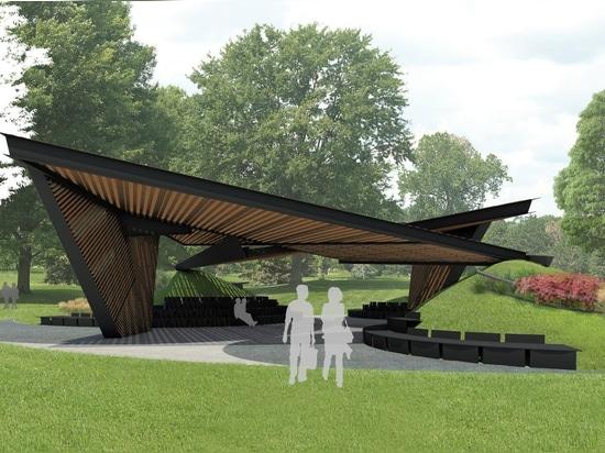 Estudio Carme Pinós reveals timber latticework design for 2018 MPavilion