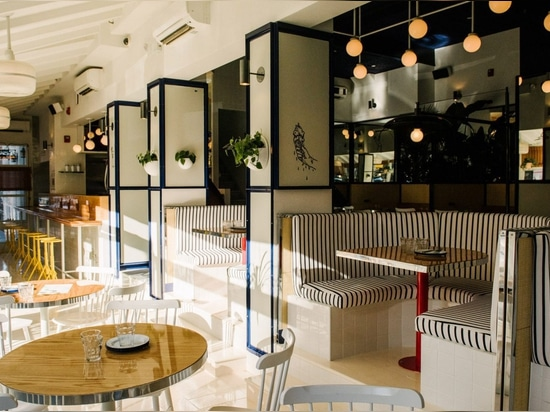 Savvy Studio creates nautical interiors for Summer Day Cafe in New York City