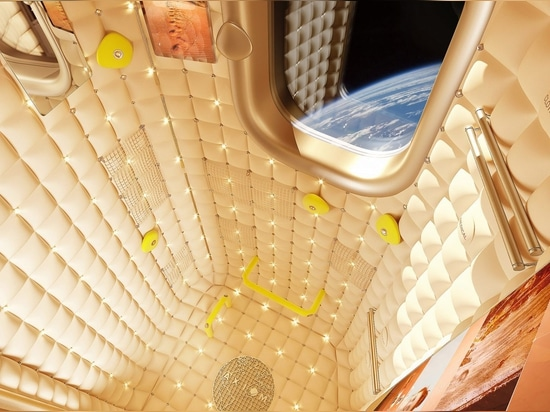 "Philippe Starck designs ""foetal"" interiors for Axiom's commercial space station"