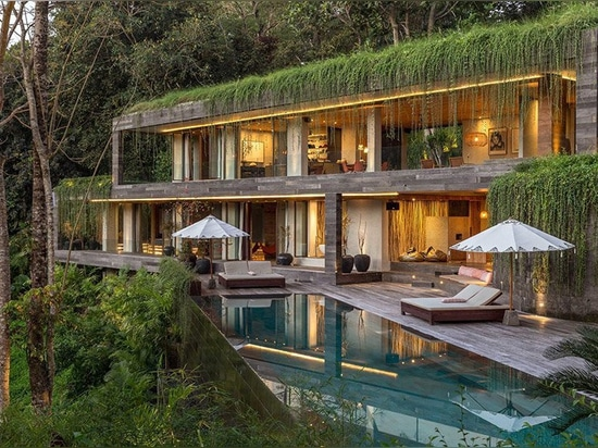 WOMhouse's chameleon villa 'disappears' within its balinese surroundings