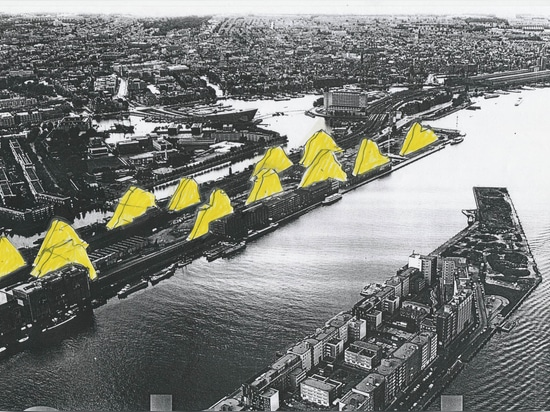 """""""First one does something which seems original, only to find out that nature was there earlier."""" Mountain housing proposal for Amsterdam, 1999. (All images courtesy Zvi Hecker)"""