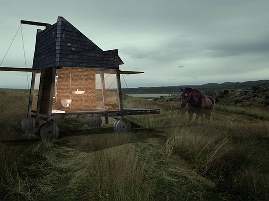 opposite office designs mobile houses for tourists to observe northern lights in iceland