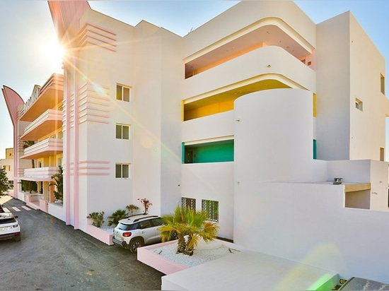 paradiso ibiza art hotel is stylistically somewhere between miami and memphis