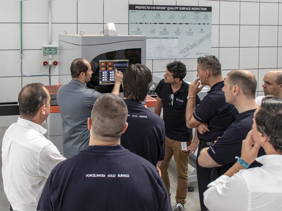 Training session with the KRION® technical-commercial team