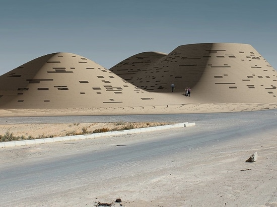 Hajizadeh & Associates's complex in Iran merges with the environment resembling sand dunes