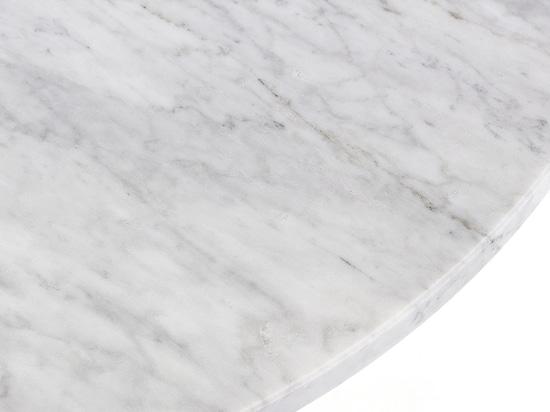 Arrmet round top table in carrara White Marble
