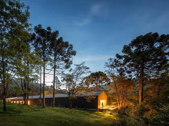 Casa Mororó by Studio MK27 is a 65-metre-long house in rural Brazil