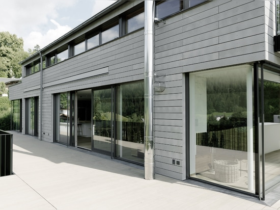 Private residence with öko skin facade