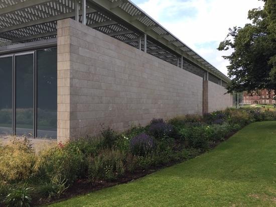 Travertine walls