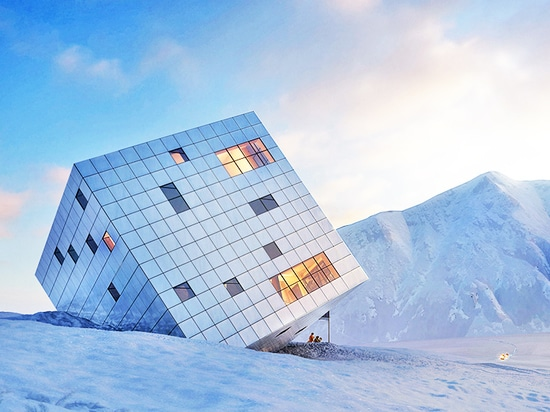 Czech architects Atelier 8000 designed this monolithic cube retreat for the mountains of northern Slovakia. Inspired by glaciers, the architects envisioned a block of ice tumbling down a mountainsi...