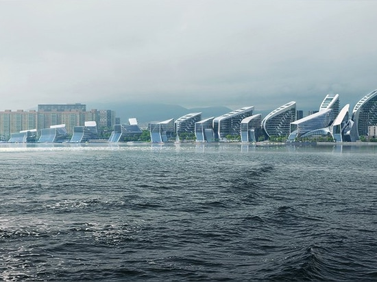 ZHA's masterplan for new novorossiysk neighborhood comprises nine iterations of a single form