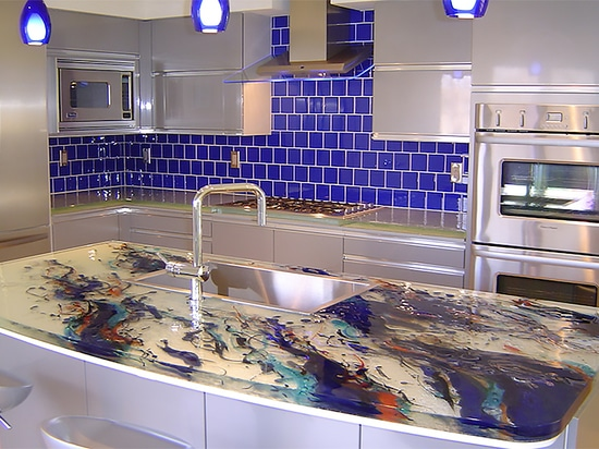 Artistic Kitchen Island