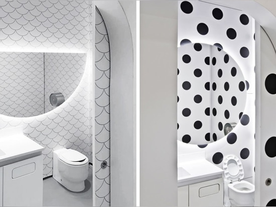 These bold, eco-friendly bathrooms reduce water usage by 80%