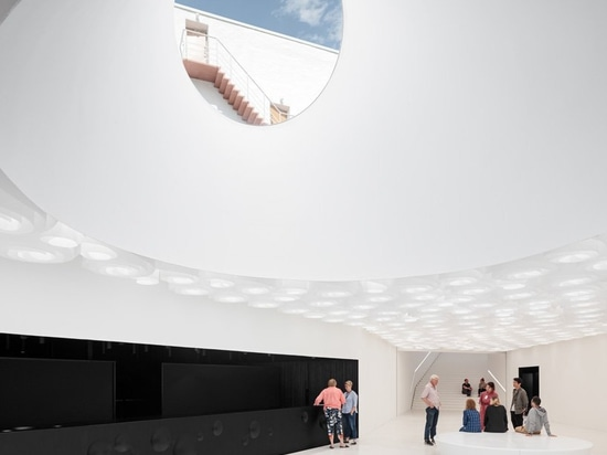 underground art museum 'amos rex' transforms helsinki square into landscape of skylights