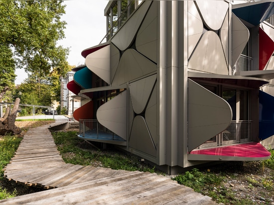 Ballet Mécanique apartment block has walls that unfold to form balconies and sunshades