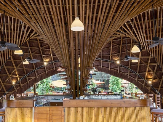bambubuild creates versatile bamboo pavilion that can be reused and relocated