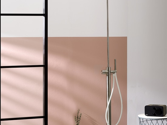 Synth freestanding shower by Mina