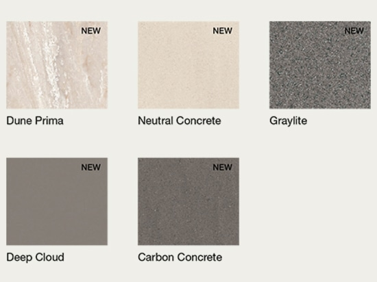 New Corian colors fot tops and integrated tops
