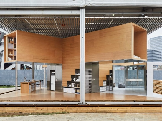 go hasegawa designs prototypical living space for MUJI employees