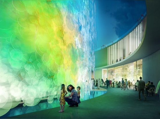 paul cocksedge designs 'impossible' living watercolor pavilion for expo 2020 dubai