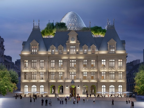 vincent callebaut to transform historic building in luxembourg with sculptural 'solar dome'
