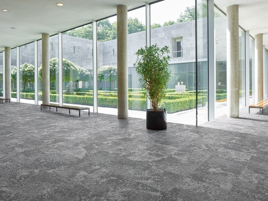 Forbo's Tessera Cloudscape flooring features patterns based on cloud formations