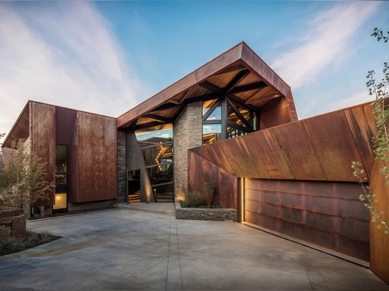 This New House Clad In Weathering Steel Sits On A Hillside In Colorado