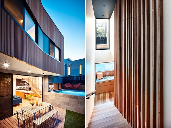 A Rear Addition And An Above Ground Swimming Pool Were Added To This House In Melbourne