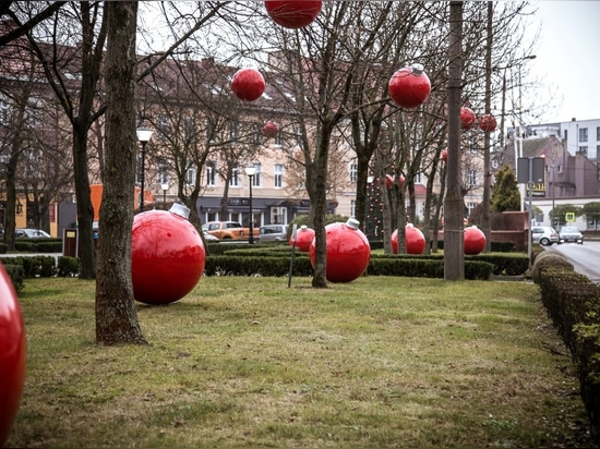 Christmas atmosphere in Słubice - baubles, not only on a Christmas tree!