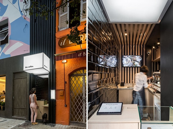 This Tiny Coffee Shop Was Created From A Small Unused Service Door