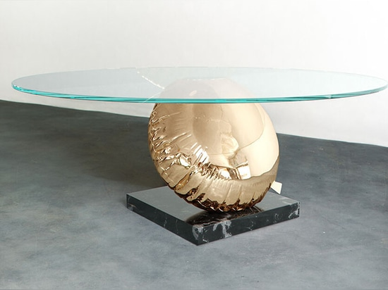 Duffy London Has Designed A Table That's A Playful Interpretation Of Buoyancy And Balance