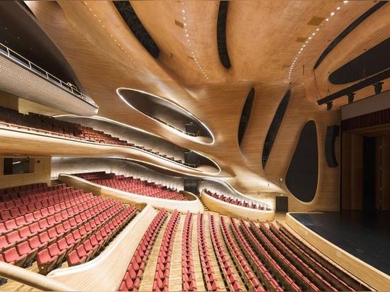 andrés gallardo photographs MAD architects' harbin opera house in china's ice city