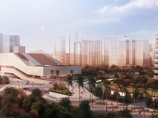 gmp architekten and nieto sobejano chosen for guangzhou museum complex in china