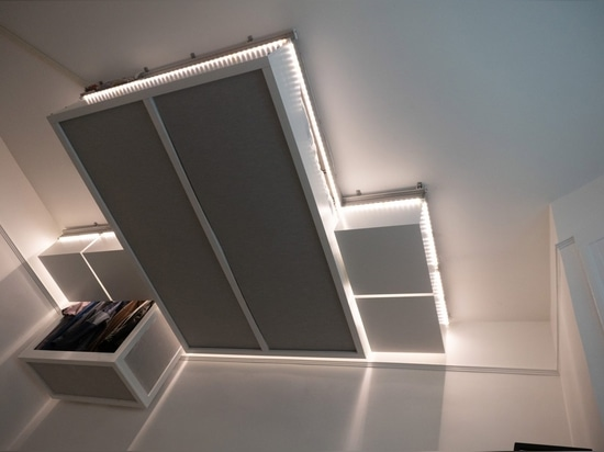 AI-controlled robotic ceiling furniture creates extra space for tiny homes