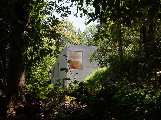 Pablo Pita's geometric Forja House nestles amongst trees in Portuguese valley