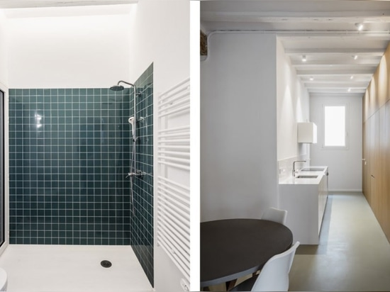 Historic apartment is rehabbed into a bright and modern home in Barcelona
