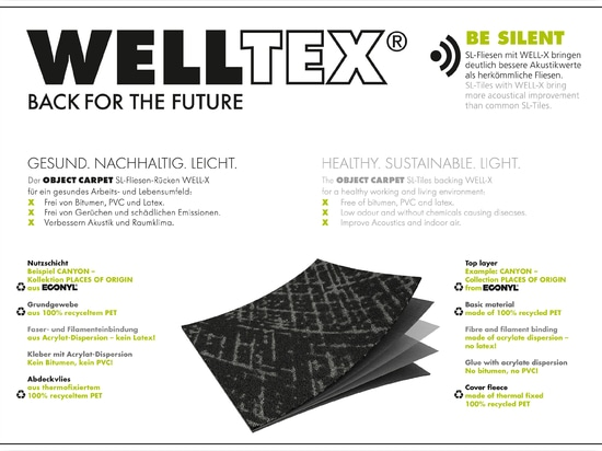 Back for the future: WELLTEX – innovative carpet tile backing from OBJECT CARPET