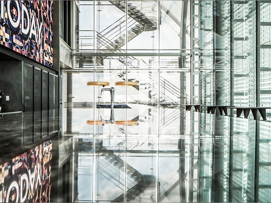 JSPR Empire collection lighting up the Infinity Building in Amsterdam, NL