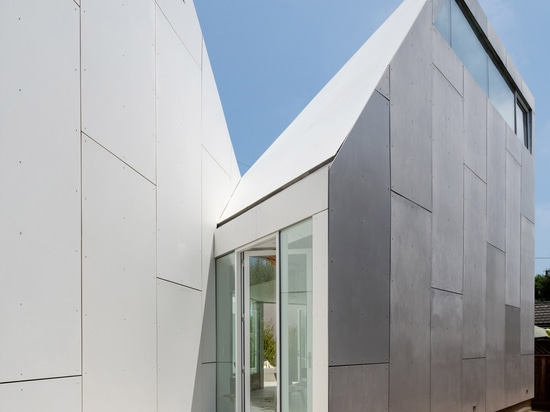 Faceted volumes surround courtyard at FreelandBuck's Second House