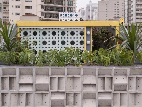 debaixo do bloco completes são paulo art gallery with façade of precast concrete blocks