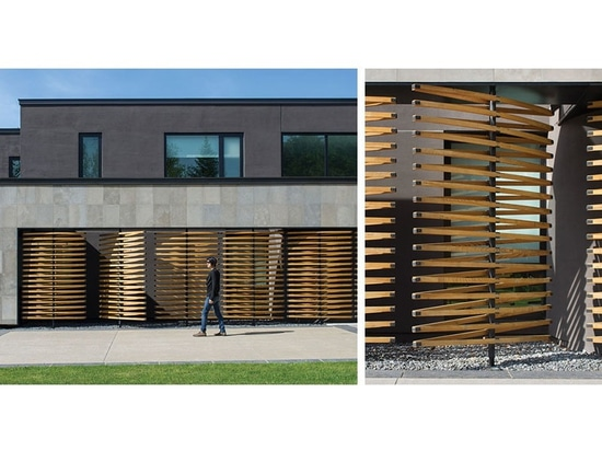 Architectural Design Detail – Pivoting Wood Screens