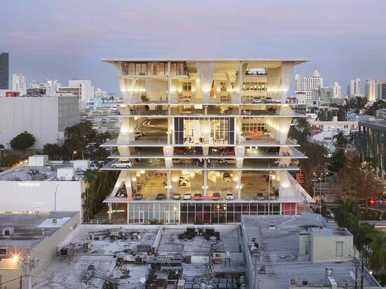 Swiss architecture firm Herzog & de Meuron has donated a selection of works to New York's Museum of Modern Art. Pictured, exterior view of the 1111 Lincoln Road in Miami Beach, Florida. Photography...