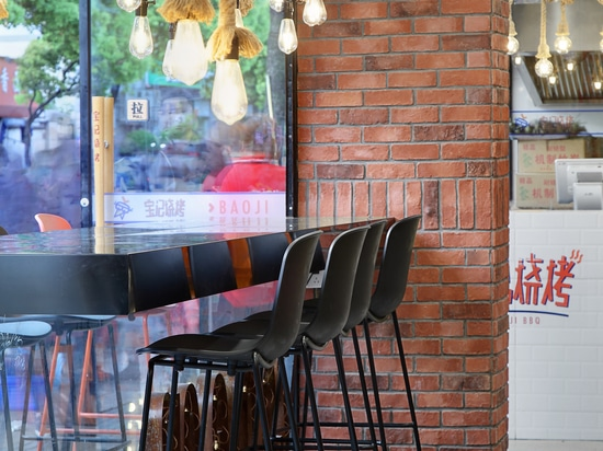 TOOU chair, armchair, barstool at Baoji BBQ Project, Nanjing China