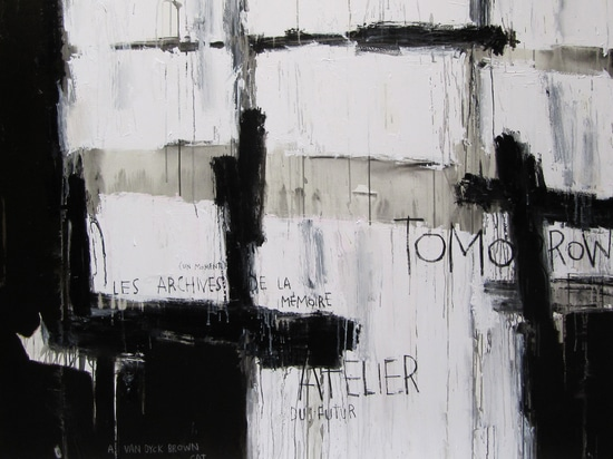 Tomorrow, large format painting by The Catman